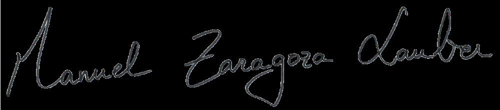 Firma Manuel Zaragoza